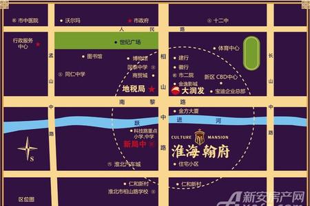淮海翰府交通图