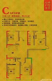 东成国际广场C户型3室2厅135㎡