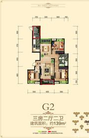 徽盐世纪广场G2户型3室2厅139㎡