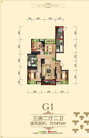 徽盐世纪广场G1户型3室2厅141㎡