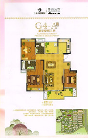 三盛颐景御园G4-A户型(高层)3室2厅121㎡
