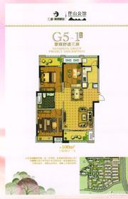 三盛颐景御园G5-1户型3室2厅100㎡