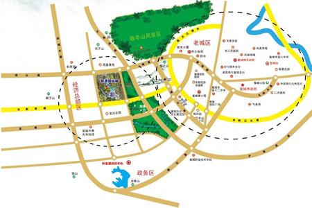 国购公园里交通图