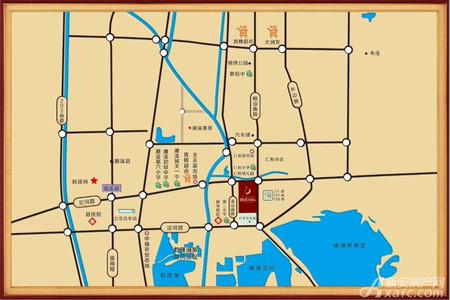 御溪国际交通图