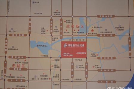 绿地迎江世纪城三期交通图