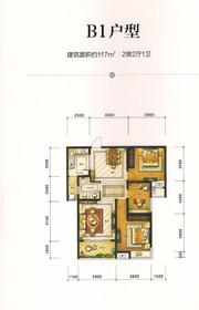 华强广场B1户型2室2厅117㎡