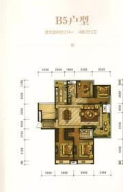 华强广场B5户型4室2厅174㎡