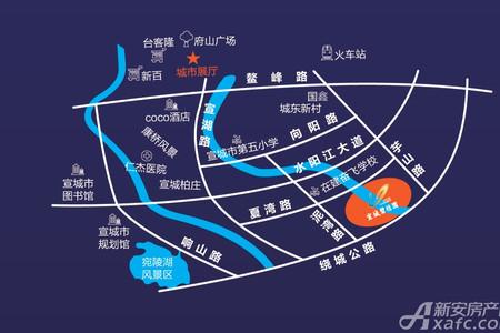 宣城碧桂园交通图