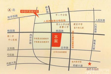 乐业阳光城交通图