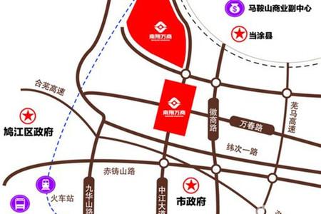 南翔万商芜湖国际商贸物流园区交通图