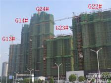 高速铜都天地高速铜都天地8月项目进度G22#、G23#正在建设中