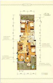 中铁滨江名邸A/B户型3室2厅124㎡