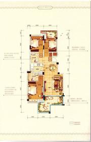 中铁滨江名邸C/D户型3室2厅115㎡