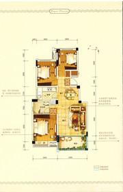 中铁滨江名邸E/F户型3室2厅103㎡