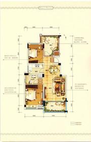 中铁滨江名邸G/H户型2室2厅90.14㎡