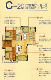 新华联梦想城C-2户型3室2厅110㎡