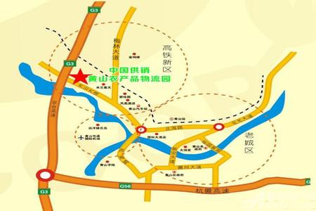 黄山农产品物流园交通图