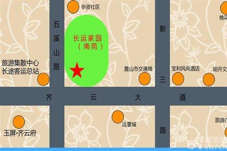 长运家园南苑交通图