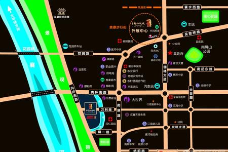 国耀新加坡城交通图