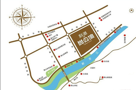 利港尚公馆交通图