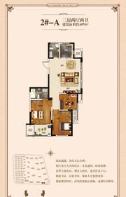 康恒滨湖蓝湾A户型3室2厅107㎡