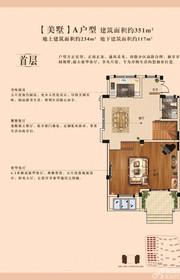 康恒滨湖蓝湾A(首层)户型2厅351㎡