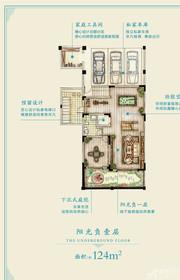 新华御湖庄园联排别墅B户型-1层1室1厅124㎡