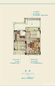 新华御湖庄园联排别墅B户型3层1室1厅68㎡