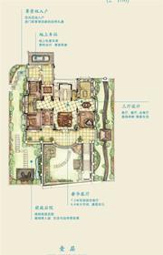 新华御湖庄园独栋别墅1层户型2室3厅276㎡