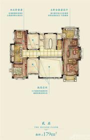 新华御湖庄园独栋别墅2层户型3室1厅179㎡
