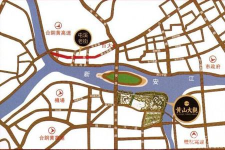 黄山大观交通图